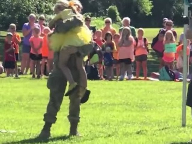 Military Mom Surprises Daughter During Summer Camp With Clever Plan