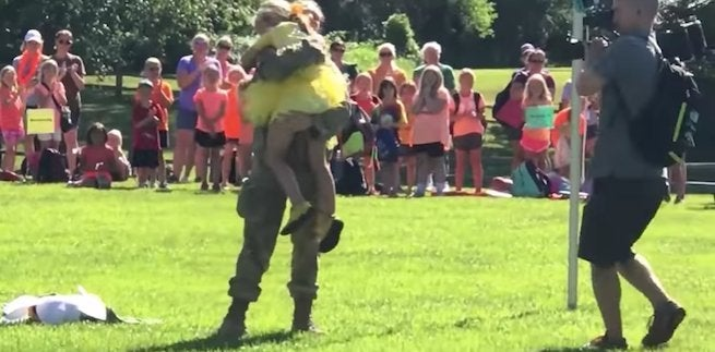 military-mom-melissa-olson-surprise-daughter-girl-scout-camp