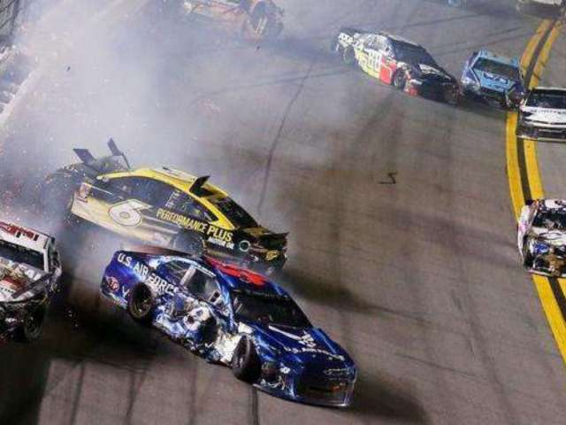 Watch NASCAR Driver Ricky Stenhouse Jr. Spark Multi-Car Crash at Daytona