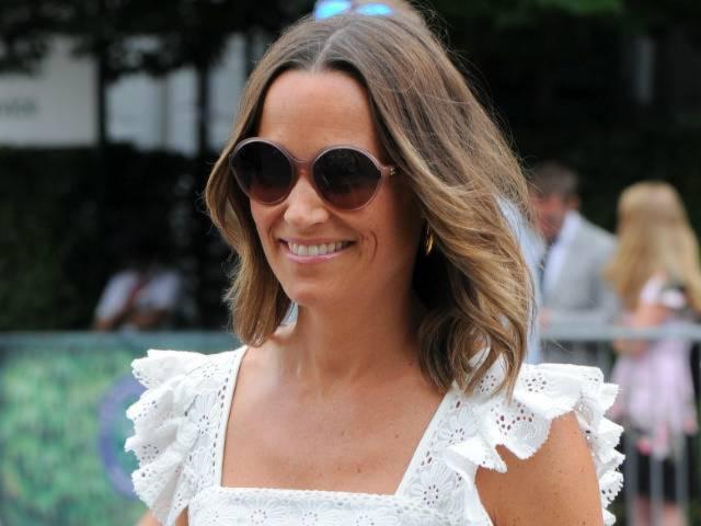 Pippa Middleton Puts Baby Bump on Display During Wimbledon