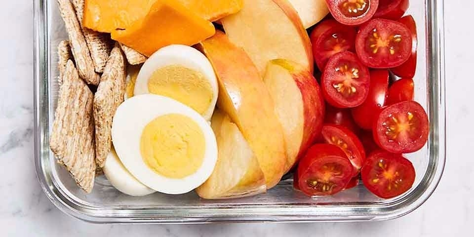A Cheese, Cracker, Fruit, and Egg Lunchbox
