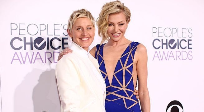 ellen-degeneres-portia-de-rossi_getty-Christopher Polk : Staff