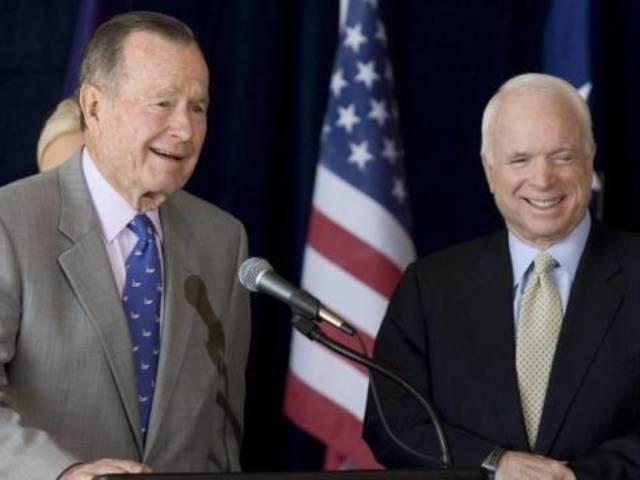 President George H.W. Bush Pays Tribute to 'American Maverick' John McCain