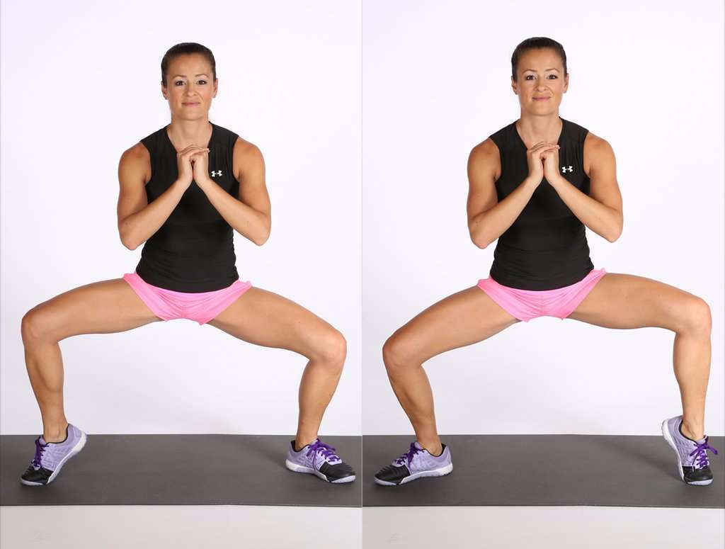 Plié Squat with Alternating Heel Raise