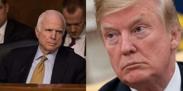 trump mccain getty images