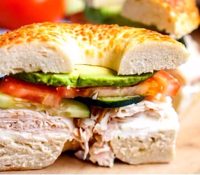 Veggie-and-Cream-Cheese-Turkey-Bagel-Sandwich-LONG-PIN copy