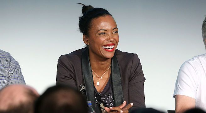 aisha-tyler-the-talk_getty-Cindy Ord : Stringer