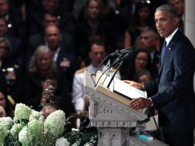 Barack Obama Earns Applause for Emotional Tribute at John McCain Funeral: 'Never Tried to Hide the Admiration I Had'