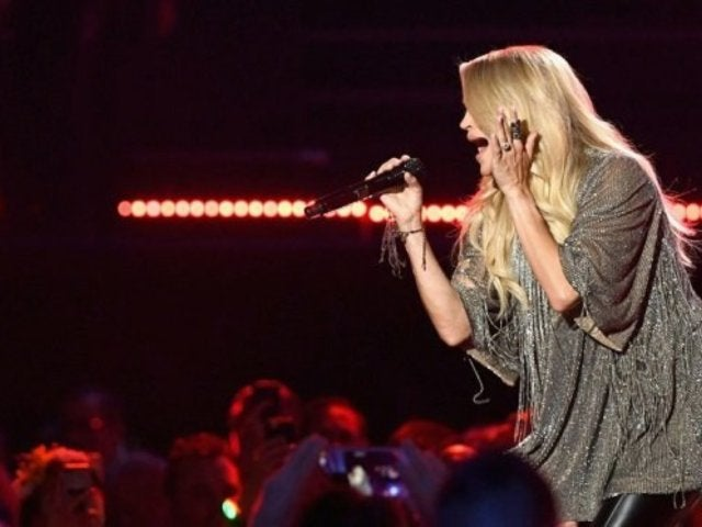 Carrie Underwood Displays Baby Bump During iHeartRadio Festival Appearance