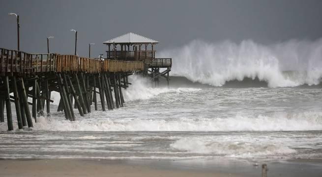 hurricane florence carolinas storm surge getty images