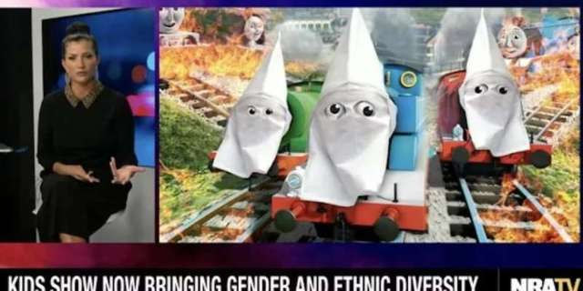 NRA Slammed for Putting KKK Hoods on 'Thomas and Friends' Characters