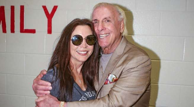 ric flair wendy barlow getty images