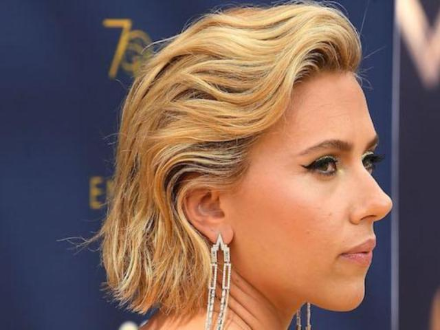 Scarlett Johansson Reveals Large Back Tattoo on Emmys Red Carpet