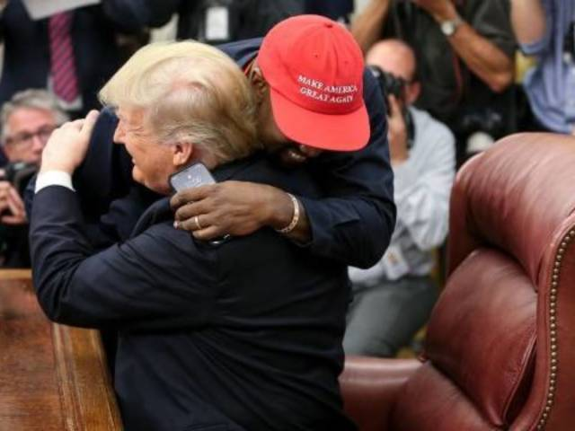 Kanye West, Kid Rock Join President Donald Trump for Bill Signing at White House