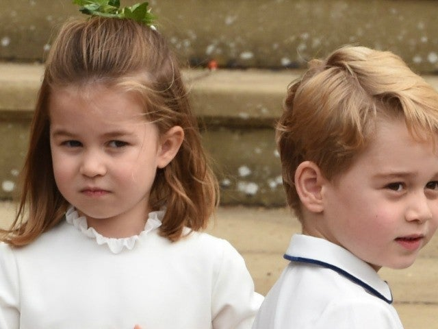 Prince George and Princess Charlotte Are All Giggles at Princess Eugenie's Wedding