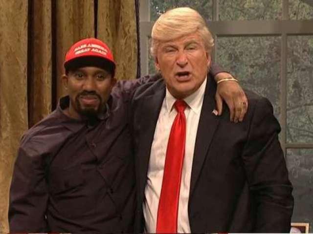 'SNL': Alec Baldwin Returns as Trump in Kanye West Meeting Parody