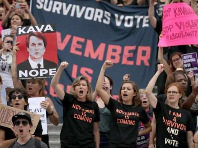 Watch Protesters Interrupt Brett Kavanaugh's Supreme Court Confirmation