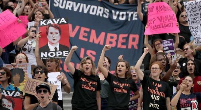 kavanaugh protests getty images