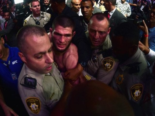 UFC 229: Khabib Nurmagomedov Jumps Into Crowd to Fight After Defeating Conor McGregor, Entourage Members Arrested