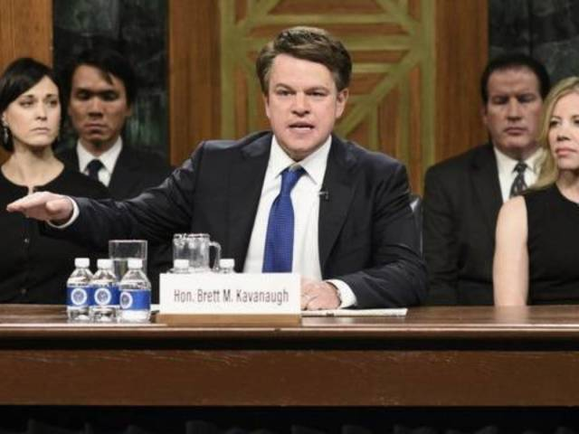 Will Matt Damon Reprise His Role as Brett Kavanaugh on 'Saturday Night Live' This Weekend?