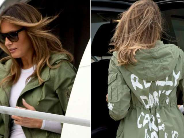 Melania Trump Says 'I Really Don't Care' Jacket Was a Message to 'The Left-Wing Media'