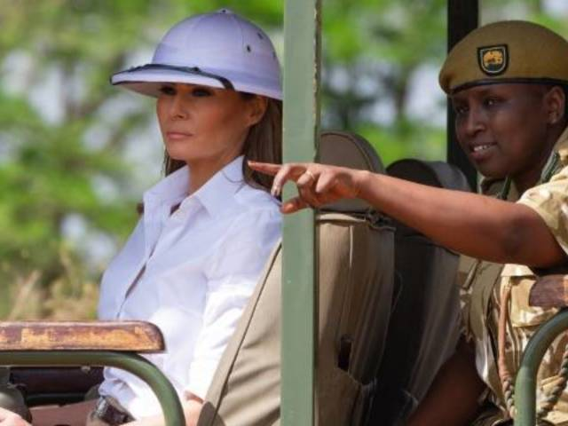 Melania Trump Faces Scrutiny for Hat Choice While Visiting Kenya