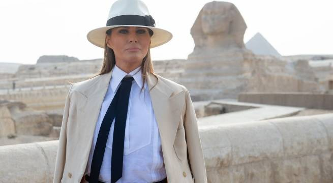 melania trump egypt getty images