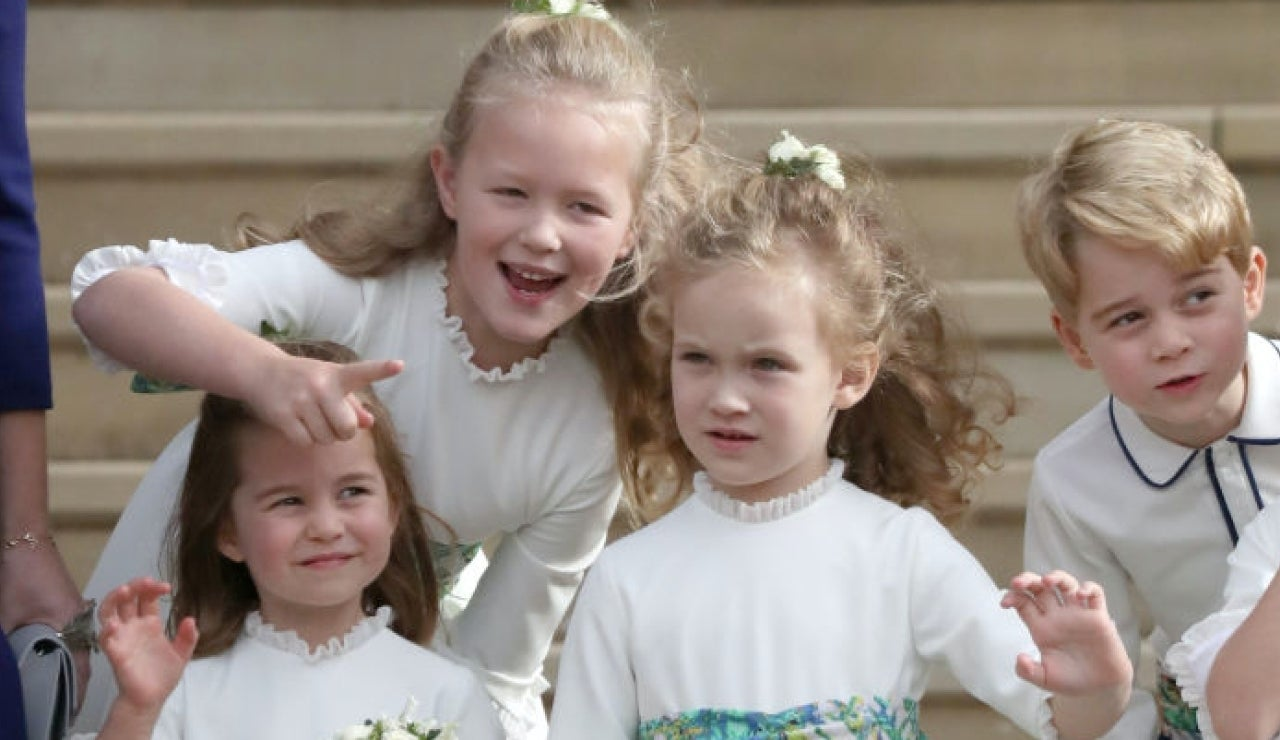 Prince George Savannah Phillips Princess Eugenie Wedding