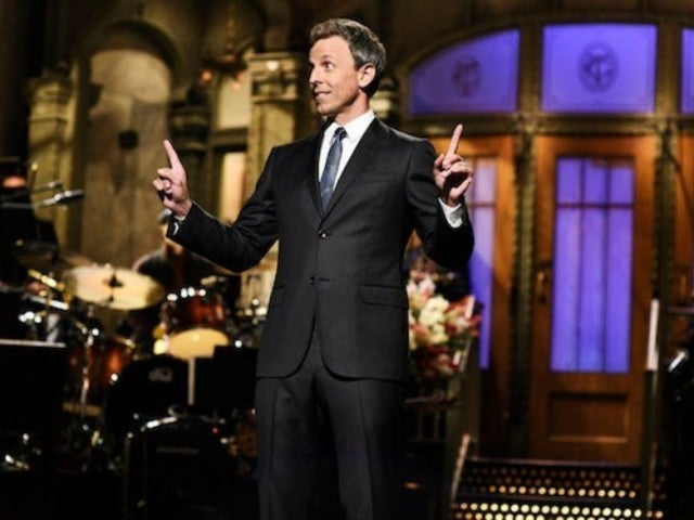 'SNL' Host Seth Meyers Dishes on Run-Ins With Donald Trump, Kanye West in Opening Monologue