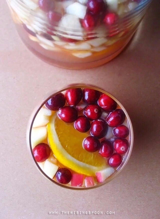 white wine sangria recipe for winter and fall
