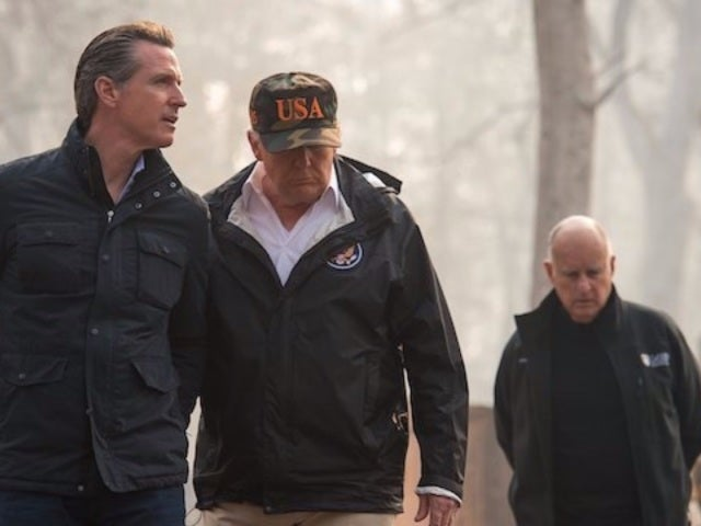 President Donald Trump Visits California Wildfire to Survey Damage, Visit With Firefighters