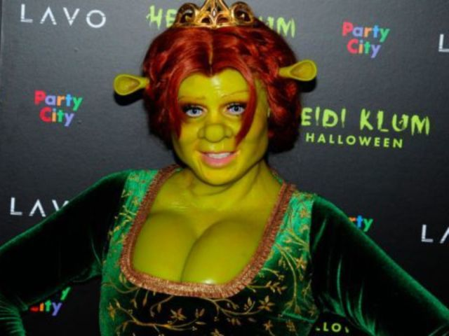 Watch Heidi Klum Transform Into Fiona From Shrek for Halloween Costume 2018