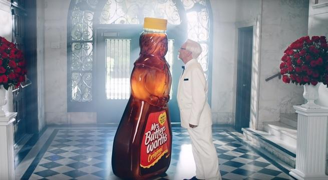 kfc chicken and waffles commercial