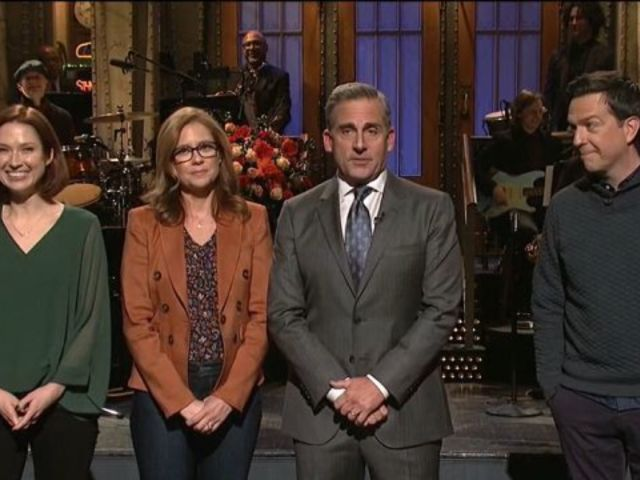 'SNL' Stages 'The Office' Reunion in Steve Carell Monologue