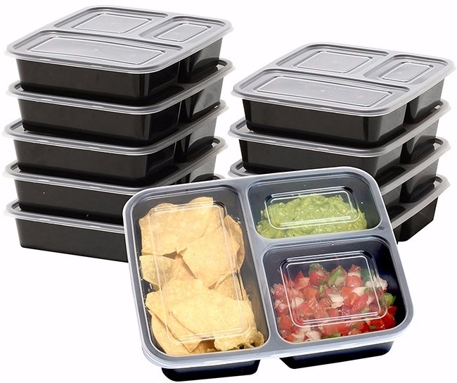 Simple Houseware's 3-compartment meal prep containers