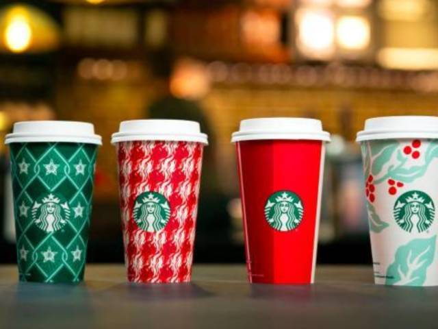 Starbucks Holiday Cups Return With 4 Red and Green Designs