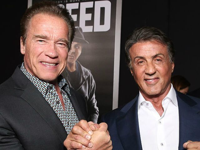 'Expendables' Co-Stars Arnold Schwarzenegger and Sylvester Stallone Reunite on Christmas Eve