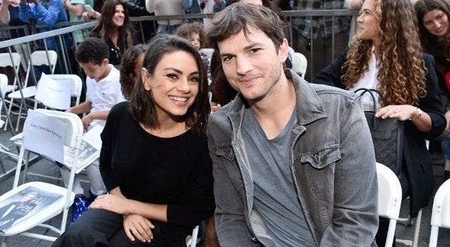 ashton kutcher mila kunis getty images