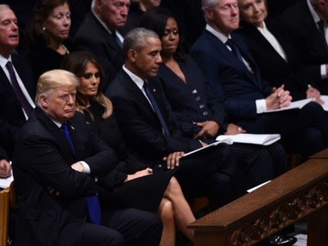 President Donald Trump's Hand Placement During Former President George H.W. Bush's Funeral Sparks Controversy