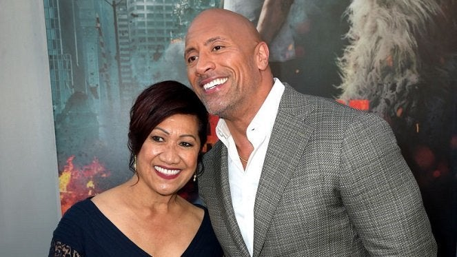 dwayne-johnson-ata-mother-getty