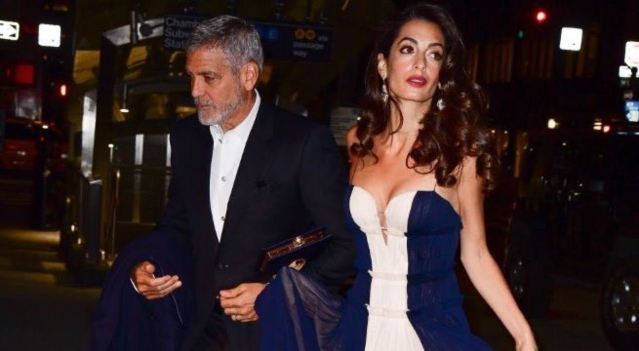 George and Amal Clooney's 1-Year-Old Twins Spotted out in