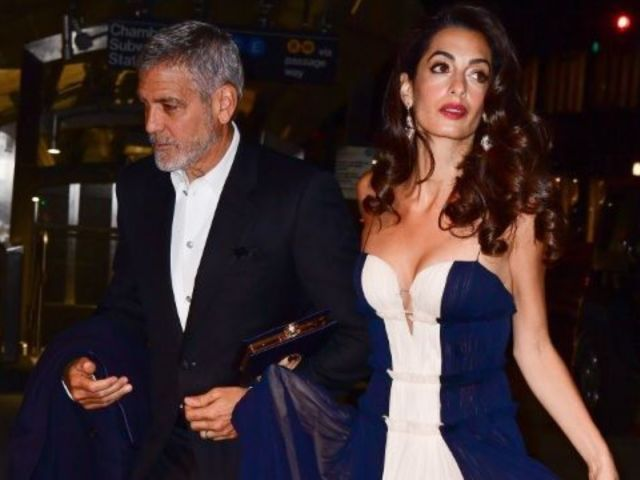 George and Amal Clooney's 1-Year-Old Twins Spotted out in New York