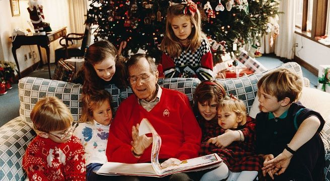 george hw bush christmas getty images