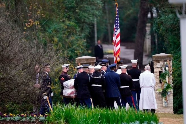 george hw bush funeral getty images 1