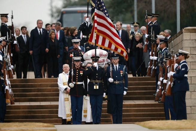 george hw bush funeral getty images 7