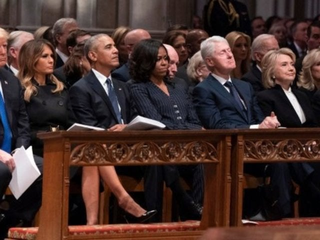 George H.W. Bush's Funeral: Lip Reader Reportedly Reveals What Was Said Between Obamas, Clintons, Pence and Cheney