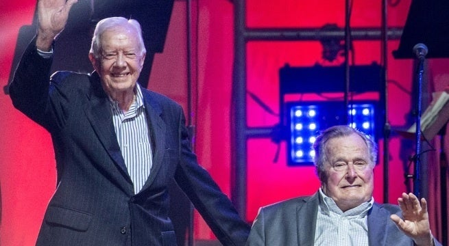 jimmy carter george hw bush getty images
