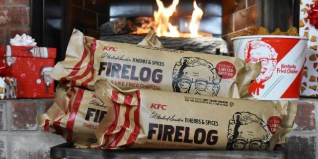 kfc-11-herbs-spice-fire-log