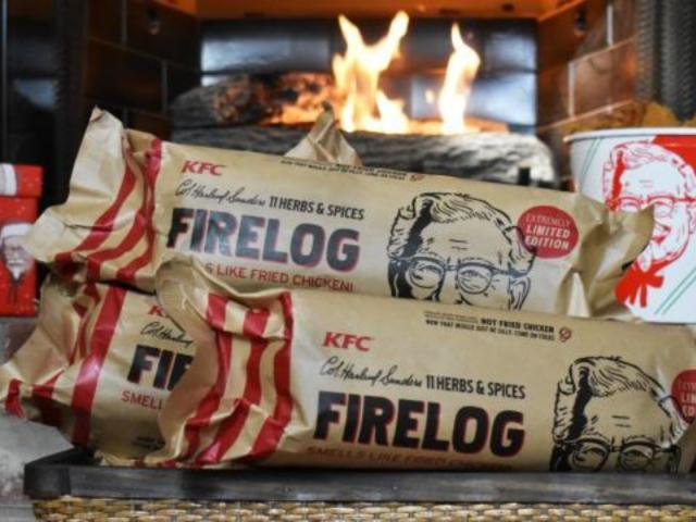 KFC Debuts Chicken-Scented Fire Log to Warm Your Holidays