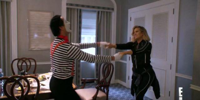 Khloe Kardashian Reunites With Pierre the Mime in 'KUWTK' Season Finale